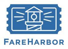 A logo for FareHarbor